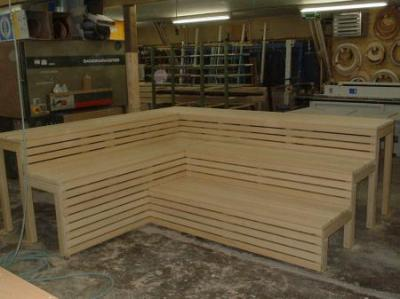 tischlerei oliver kemper saunabank. Black Bedroom Furniture Sets. Home Design Ideas