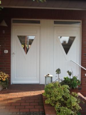 Haustür aus Holz | weiss