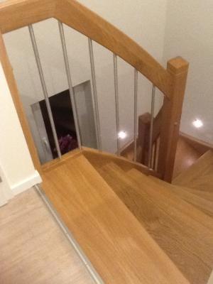 Holztreppe | Ansicht von oben